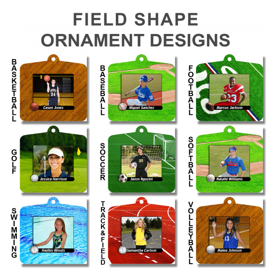 FIELD SHAPE METAL ORNAMENTS
