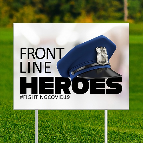 18x24 - FRONT LINE HEROES Police 1