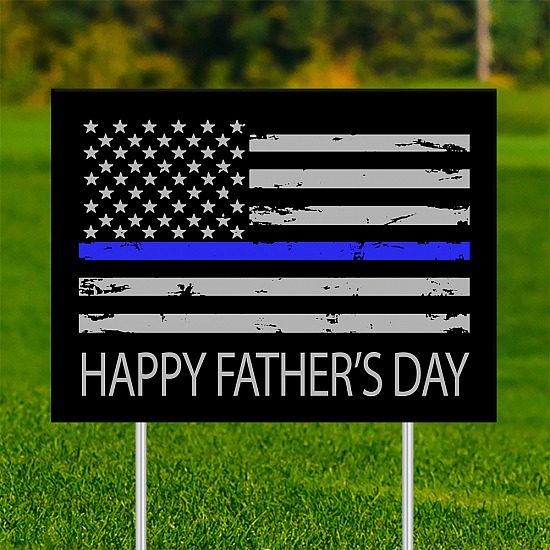 18x24 - FATHER'S DAY Thin Blue Line 001