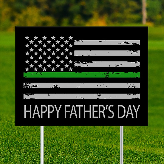 18x24 - FATHER'S DAY Thin Green Line 001
