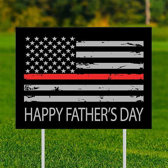 18x24 - FATHER'S DAY Thin Red Line 001