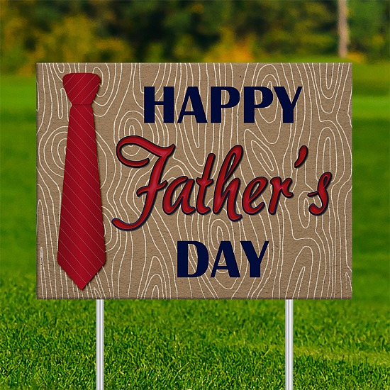 18x24 - FATHER'S DAY Red Neck Tie 001