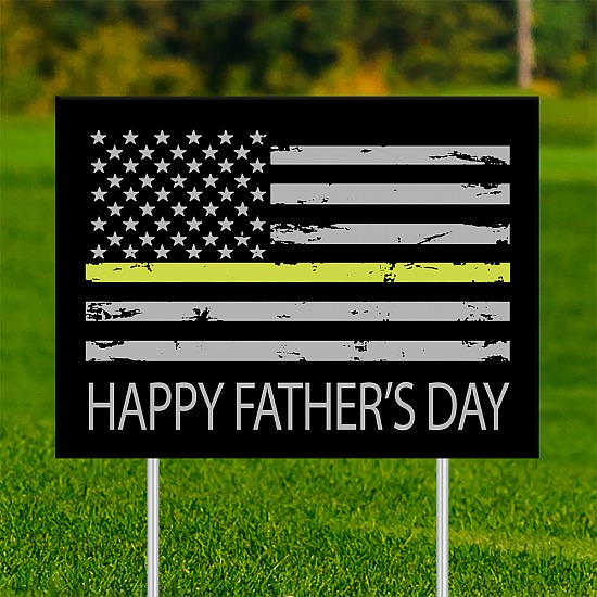 18x24 - FATHER'S DAY Thin Yellow Line 001