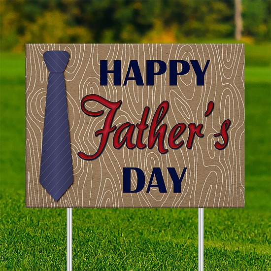18x24 - FATHER'S DAY Blue Neck Tie 001
