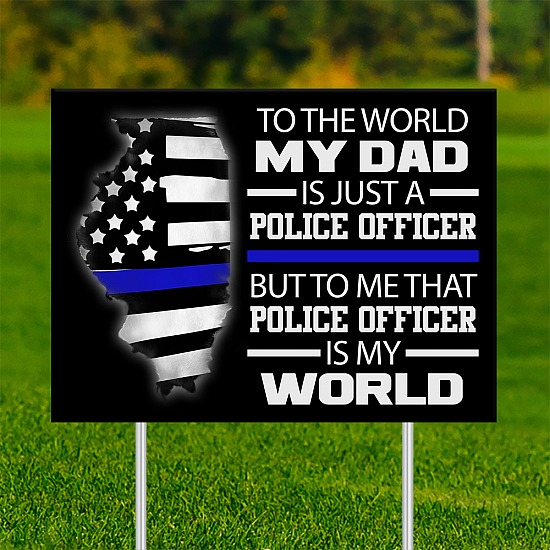 18x24 - FATHER'S DAY IL Thin Blue Line 001